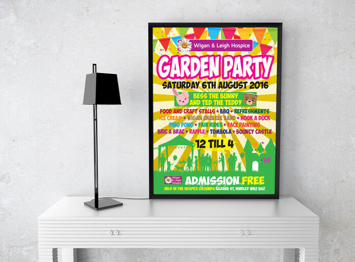 Charity Garden Party Poster Design