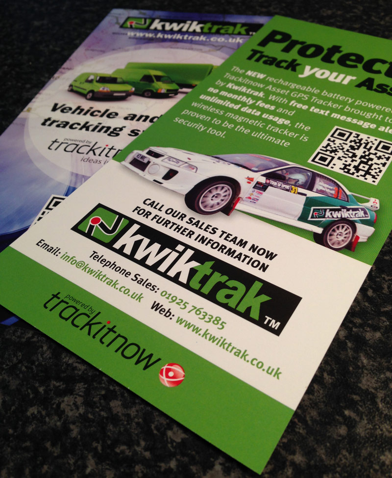 DL Leaflet Design - Kwiktrak UK