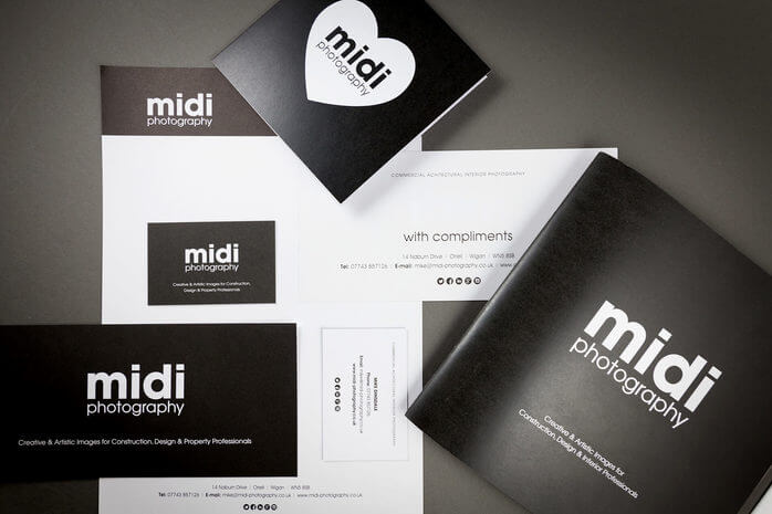 Midi Photography - Brochure and Stationery