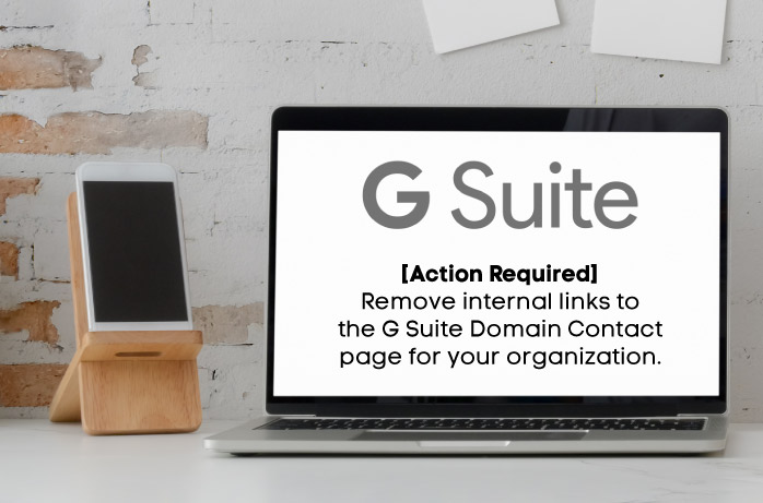 Remove Internal Links to the G Suite Domain Contact Page
