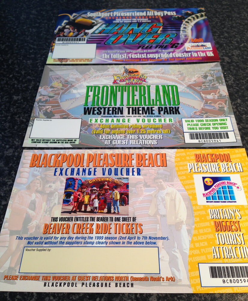 Throw Back Thursday - Theme Park Tickets 1999