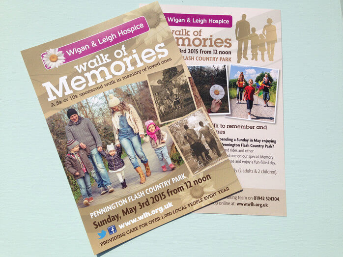 Walk of Memories Charity Leaflet